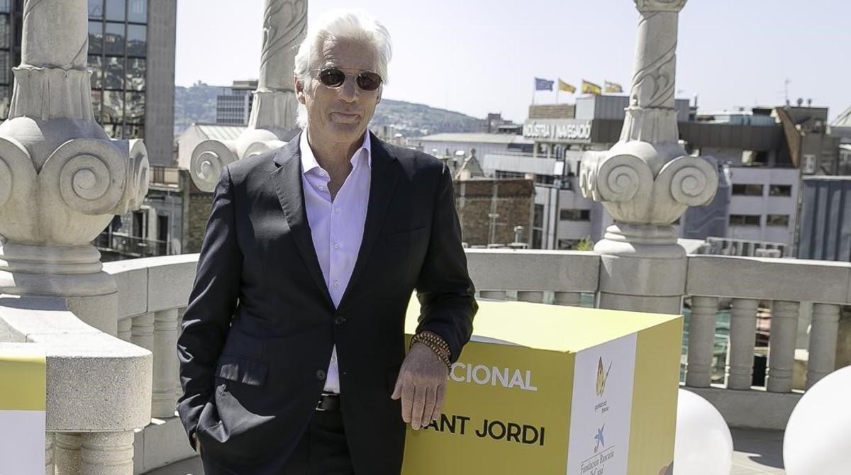 Richard Gere, el pasado 21 de abril en Barcelona, en la presentación de 'Norman, el hombre que lo conseguía todo'.