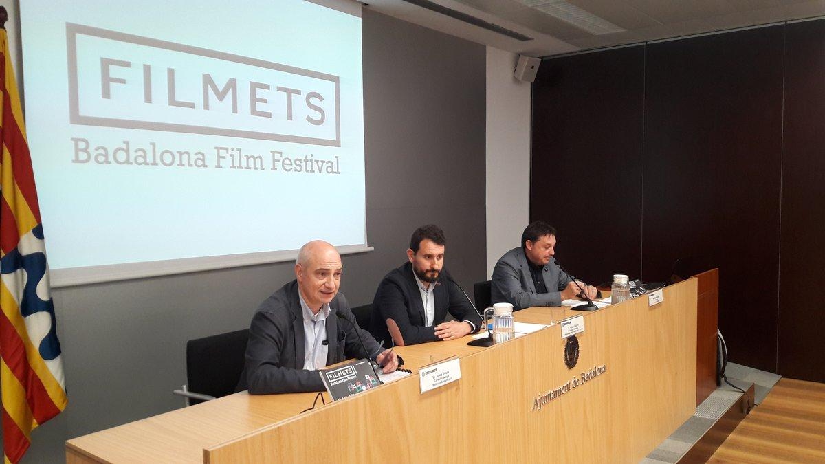 Rueda de prensa del 44º Filmets Badalona Film Festival de Badalona.