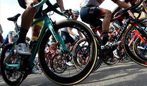 Imagen de ciclistas durante esta 11ª etapa de la Vuelta.