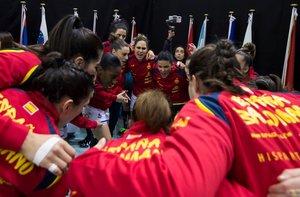 09/12/2019 La selección española femenina de balonmano Guerreras en el Mundial de Japón