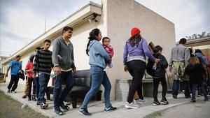 Solicitantes de asilo en la localidad de Las Cruces, Nuevo México.