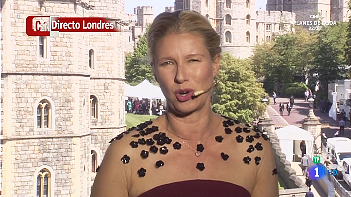 Anne Igartiburu, desde Windsor (TVE-1).