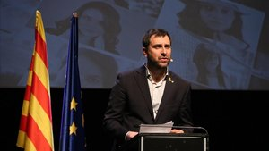 Toni Comín, durante la presentación del Consell de la República en Bruselas, el pasado sábado.