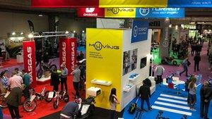 Estand de Torrot-Gas Gas en el salón 'Vive la Moto' de Madrid, en el 2018.