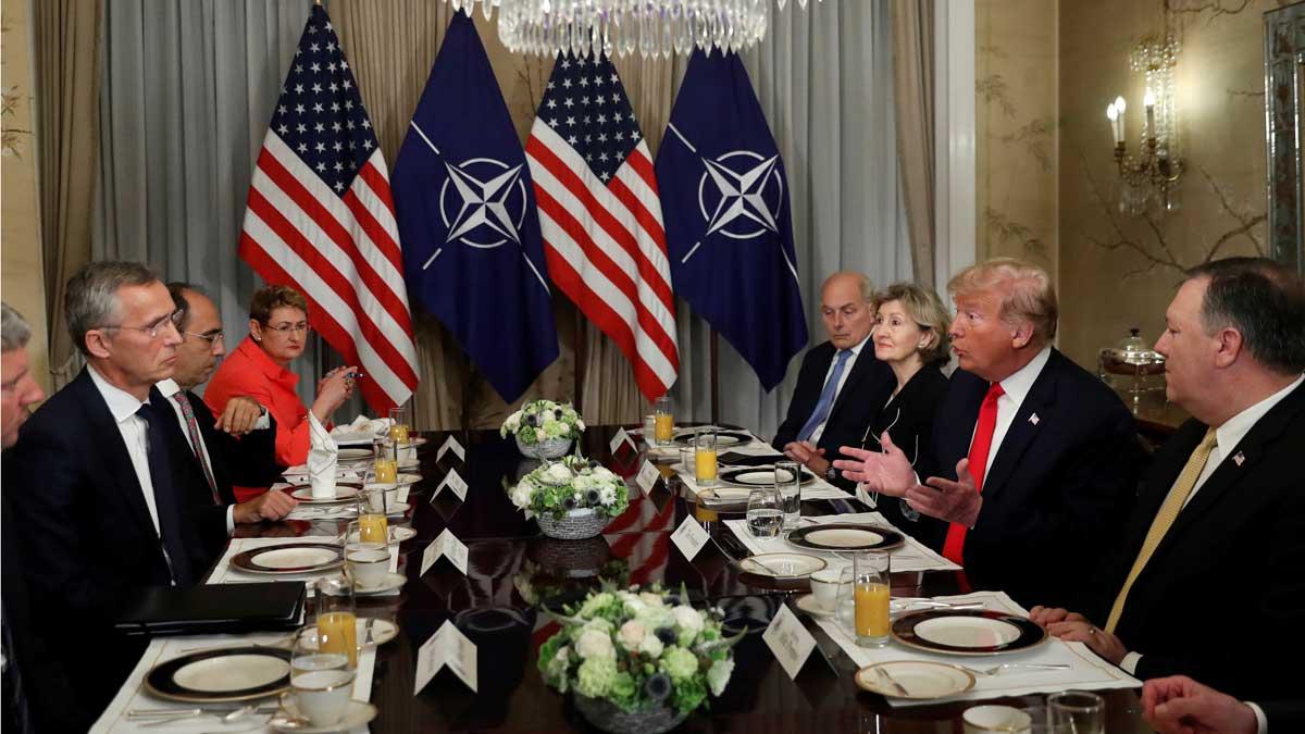 Trump dice que Alemania está totalmente controlada por Rusia debido al gas.