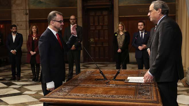 """Torra demana a Bosch que """"actuï com a ministre d'Exteriors"""" de Catalunya"""