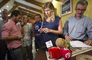 Periodistas radiofónicos vetados en el campo del Valencia en el 2011.