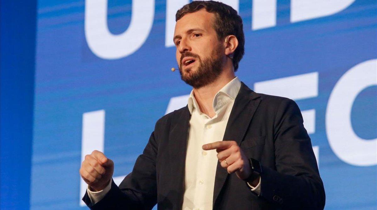 Pablo Casado, en la convención económica celebrada el sábado en Córdoba.