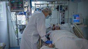 La uci del Hospital Clínic de Barcelona el pasado 22 de octubre.