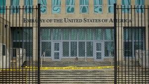 Vista de la embajada de EEUU en La Habana, el 29 de septiembre.