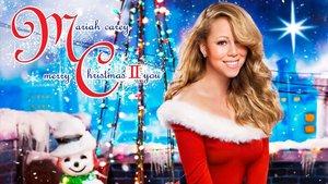 Portada de un disco navideño de Mariah Carey.