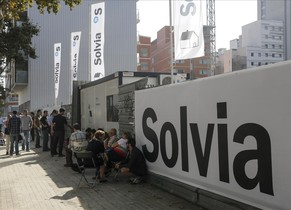 Cola en una promoción de Solvia en el área del 22@ de Barcelona.