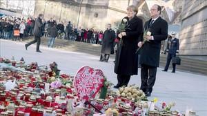Merkel i Hollande exhibeixen europeisme davant l'arribada de Trump a la Casa Blanca
