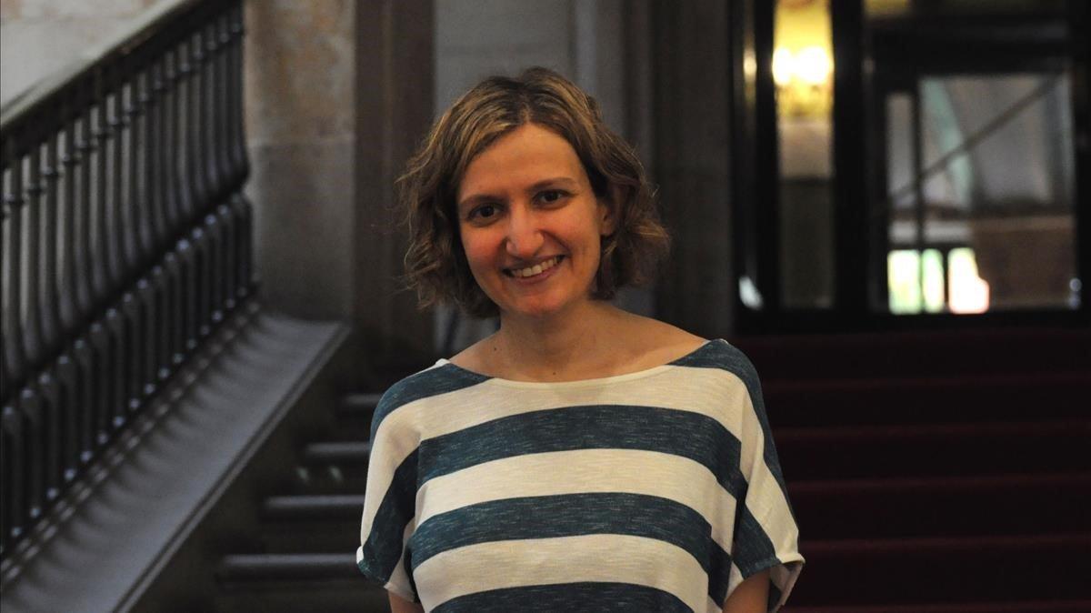 Anna Punsoda, en la presentación de 'Els llits dels altres'.