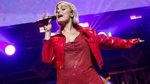 La cantante Bebe Rexha, durante un concierto en Texas, el pasado mes de noviembre.