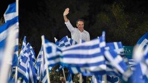 La dreta grega, de cap a la victòria electoral