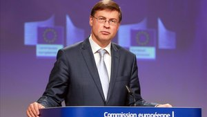 Vladis Dombrovskis, vicepresidente de la Comisión Europea.