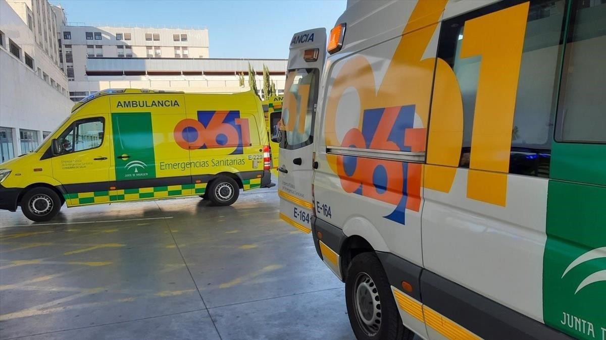 Ambulancias del 061 de Andalucía.