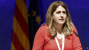 La coordinadora general del PDeCAT, Marta Pascal, en la reunión del Consell Nacional del partido.