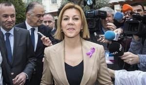La secretaria general del PP y ministra de Defensa, María Dolores de Cospedal.