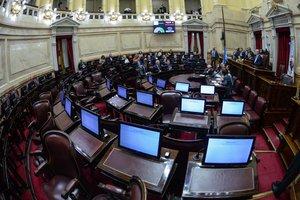 Vista del interior del Senado argentino durante una sesion para aprobar el desafuero de la expresidenta Cristina Fernandez.EFECharly Diaz Azcue