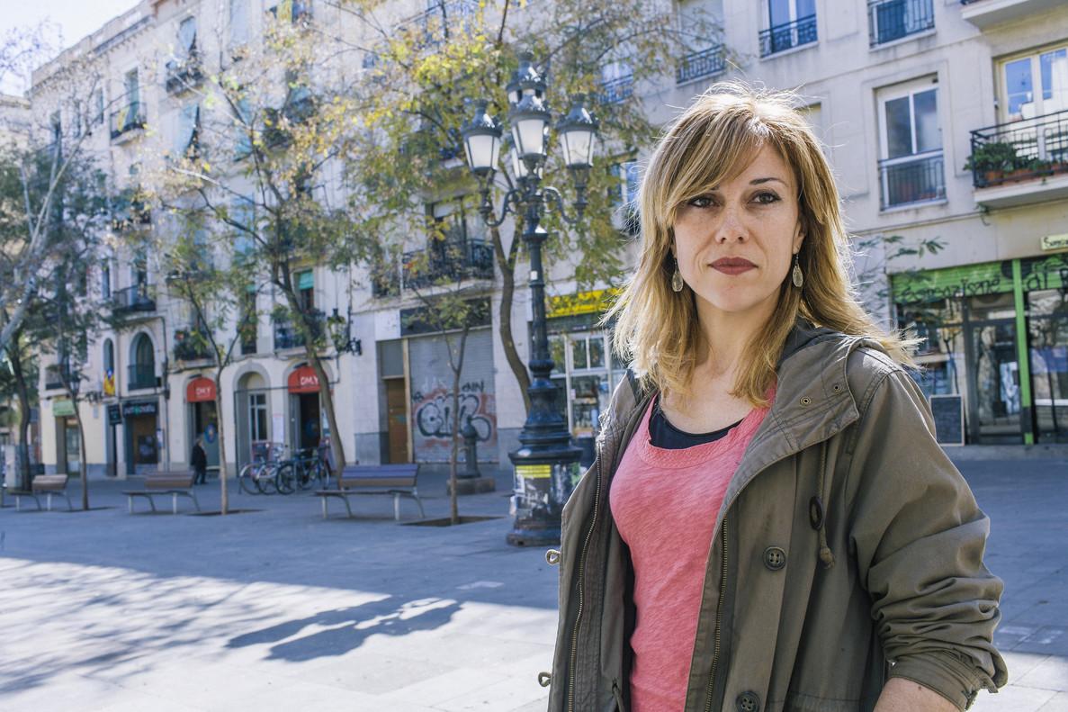La actriz Gemma Deusedas, que leerá el pregón, en la plaza Osca.