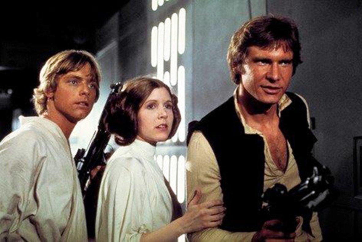 Una icónica imagen de la película inicial, 'La guerra de las galaxias'.