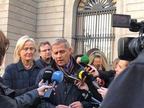 Alberto Fernández Diaz en el encuentro en el que ha anunciado que deja el Ajuntament.