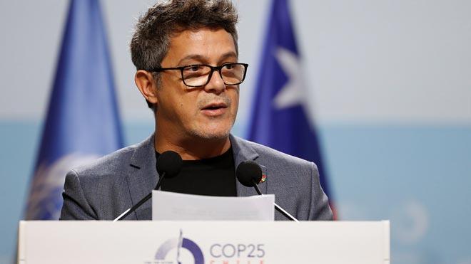 Alejandro Sanz se compromete en la Cumbre del Clima a que sus conciertos sean neutros en CO2.