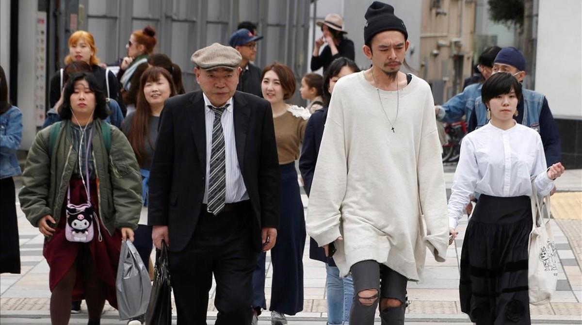 Peatones en una calle de Tokio.