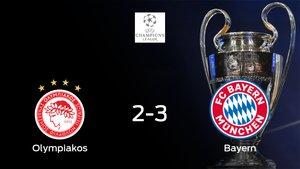 El Bayern de Múnich deja sin sumar puntos al Olympiakos Piraeus (2-3)