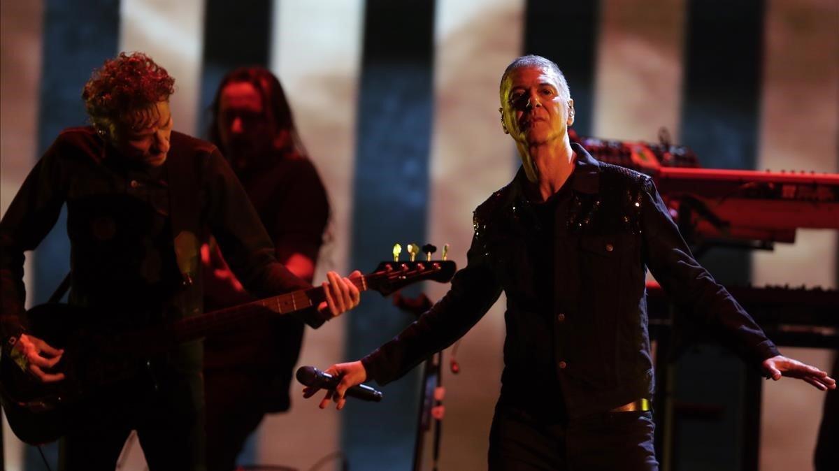 El cantante y compositor Étienne Daho, durante una actuación el pasado mes de febrero.