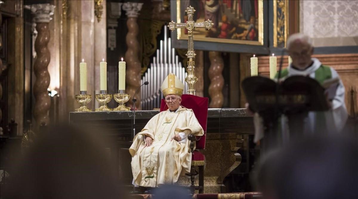El cardenal Cañizares, en una misa por la unidad de España en Valencia.