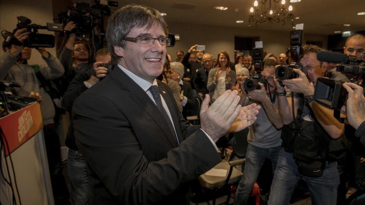 Carles Puigdemont el pasado 25 de noviembre.