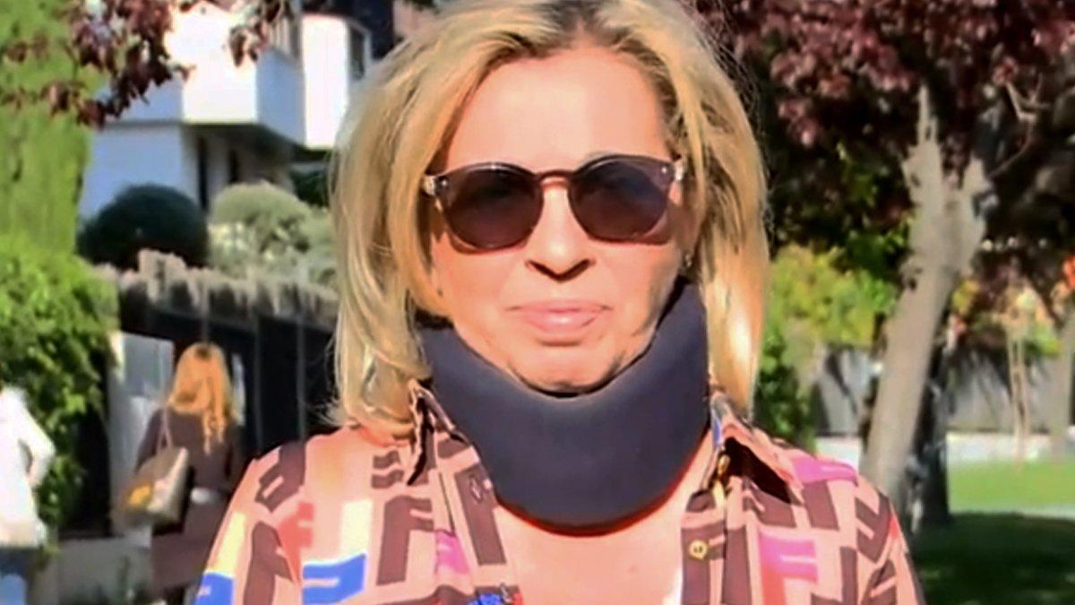 Carmen Borrego reaparece, tras romper relaciones con 'Sálvame', para informar de la última operación de Terelu