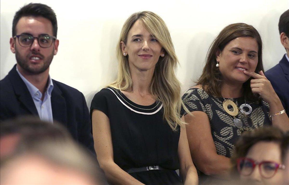 Cayetana Álvarez de Toledo, en la reunión de la Junta Directiva Nacional del PP.