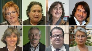 Els vuit coordinadors del Pacte Nacional pel Referèndum que proposa Puigdemont