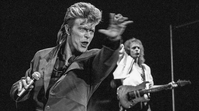 Concierto de David Bowie en el Miniestadi del FC Barcelona el 7 de julio de 1987 en la gira Glass Spider Tour.