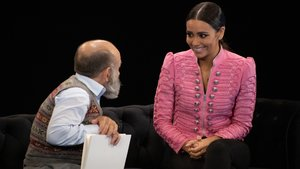 Cristina Pedroche y Emilio Gavira en 'El cielo puede esperar' .