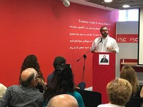 David Bote en la asamblea del PSC de Mataró.