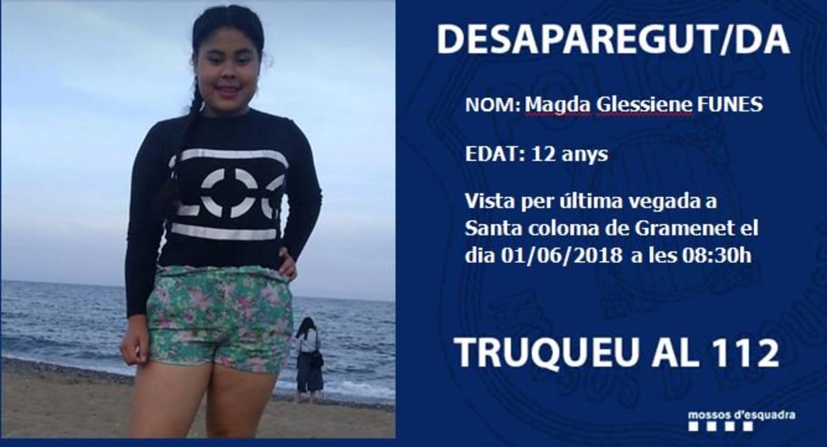 Hallada sana y salva la niña desaparecida en Santa Coloma de Gramenet