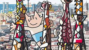 Detalle de la portada de Mariscal para el especial de Mas Periódico dedicado al 25º aniversario de los Juegos de Barcelona-92.