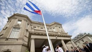 Edificio de la embajada de EEUU en La Habana.
