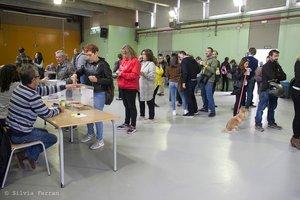 Un colegio electoral durante las elecciones generales de 2019 en Parets del Vallès.