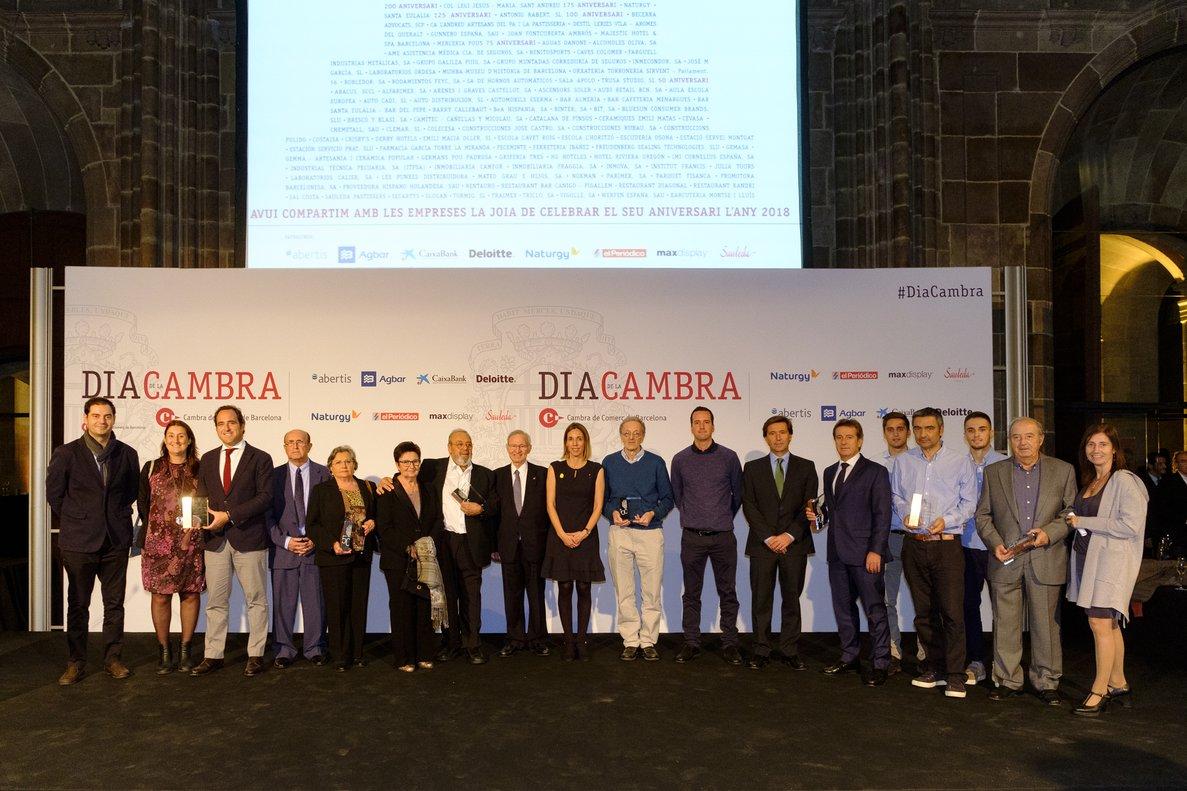 Empresarios del Maresme premiados por la Cambra de Barcelona.