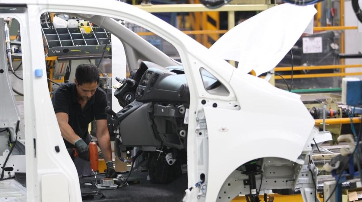 Fábrica de Nissan en la Zona Franca de Barcelona.