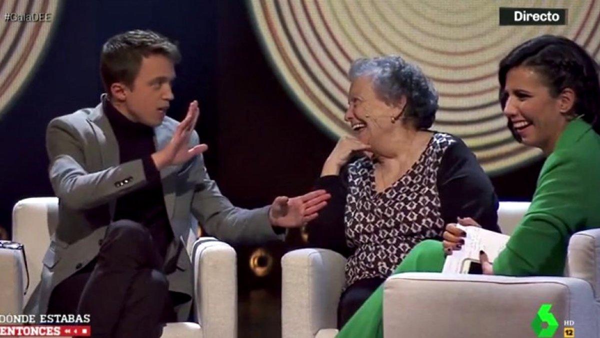 El divertido 'zasca' de María Galiana a Íñigo Errejón en la gala de '¿Dónde estabas entonces?'