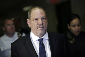 FILE - In this Oct 11 2018 file photo Harvey Weinstein enters State Supreme Court in New York Weinstein was accused in a civil court filing Wednesday Oct 31 of forcing a 16-year-old Polish model to touch his penis subjecting her to years of harassment and emotional abuse and blocking her from a successful acting career as payback for refusing his advances AP Photo Mark Lennihan File