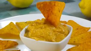 Hummus de pimientos asados.