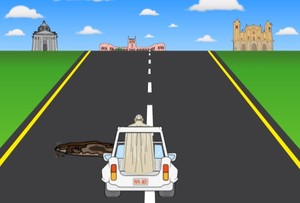 Imagen de la interfaz del videojuego 'Papa Road'.